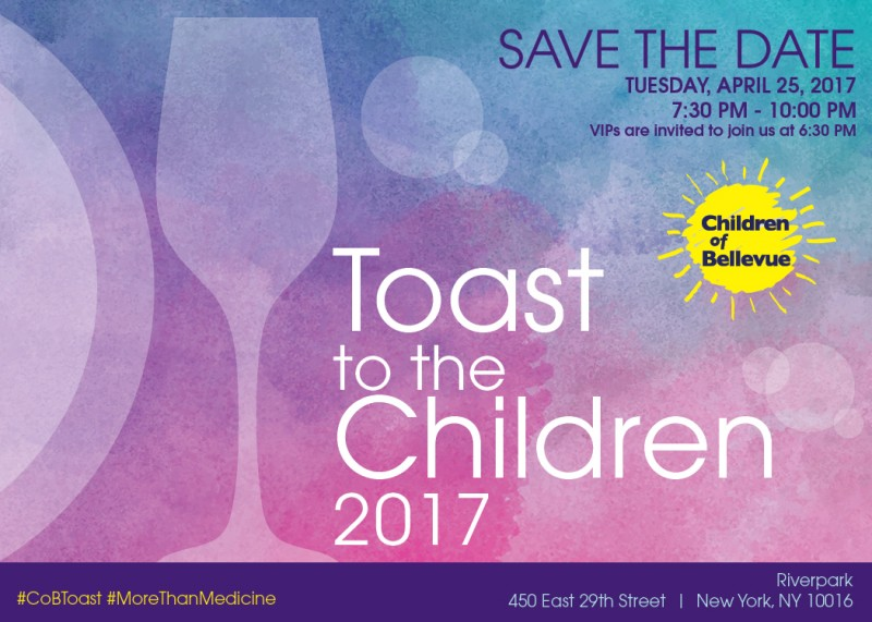 Join Us for the 21st Annual Toast To The Children